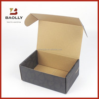 Custom corrugated cardboard shipping box with no glue