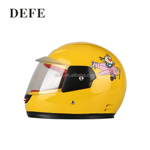 Factory price flip up motorcycle helmet yellow full face kid helmet