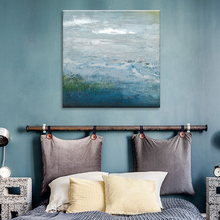 Cold Colour Handpainted Abstract Oil Painting Art Canvas Print Wall Home Decor Framed Art