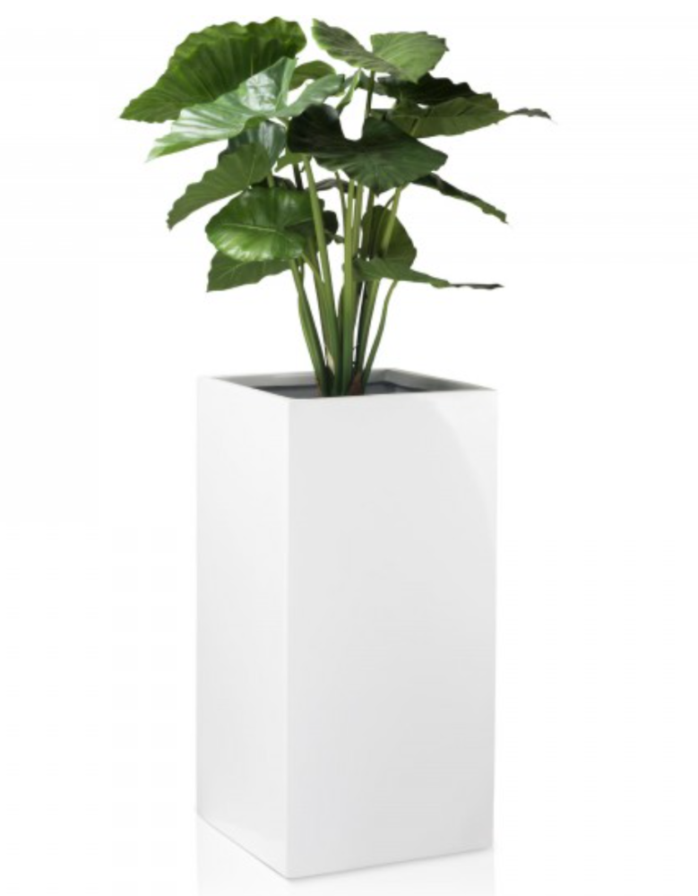 Modern white shiny stand design outdoor flower pot