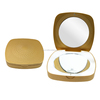 cosmetic makeup mirror compact mirror with led light gold compact mirror