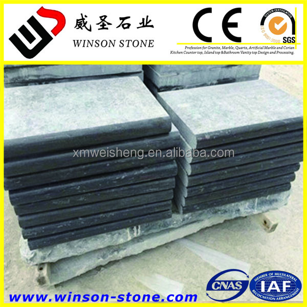 Blue Limestone Swimming coping ,Machine Cut China nature stone coping