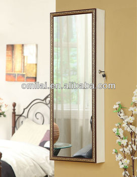 2013 new design PVC bathroom mirror cabinet with light