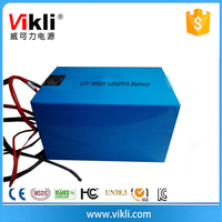 Household solar system LiFePO4 Type 12V 80Ah lithium ion Battery Pack
