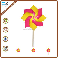 Promotion craft gift classic windmill toy, plastic pinwheel, toy pinwheel