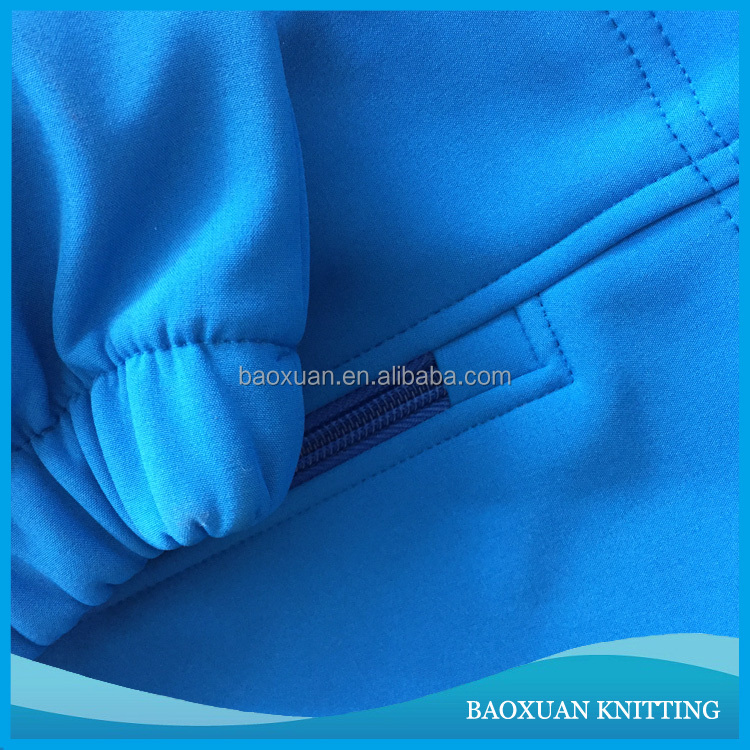 100% Polyester stretch bonded polar fleece softshell jacket fabric
