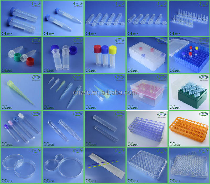 Plastic pipette tip box with 96 wells for 200ul