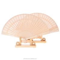 Custom printed folding Chinese wooden hand fan