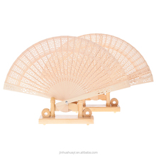 Custom printed folding Chinese wooden hand fan