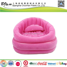 Factory fashion OEM furniture deluxe air arm chair blue flocked pvc outdoor inflatable sofa