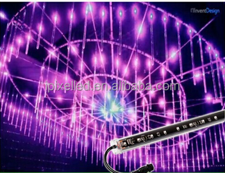 3D rgb tube led falling lights with Madrix