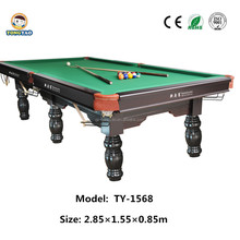 Professional Manufacturer International standards Snooker pool table,united Billiard tables price(TY-1568)