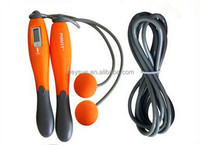 Adjustable Portable Wireless Jump Rope Calorie Counter Digital LCD Skipping Rope Fitness Equipment Orange