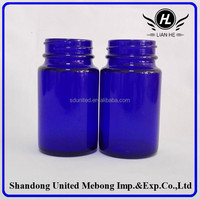 75ml wide mouth cobalt blue glass bottle, wide mouth glass contianer for tablet/pill