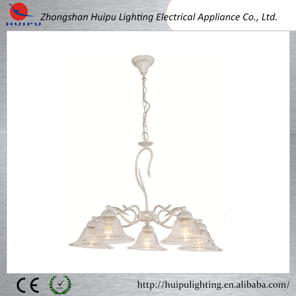 Simple white mix silver painting 3xE27 lights classical indoor chandelier