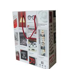 offset printing white card paper gift bag