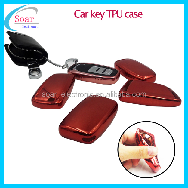 High quality electroplating tpu car key cover case protective car key case