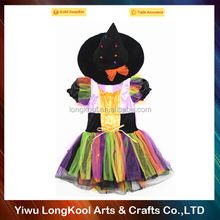 2016 China supplier longkool halloween witch cosplay costume rainbow fancy dress costume