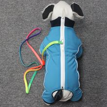 Customized functional Dog out door high quality softshell waterproof pet jumpsuit winter clothes reflective