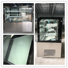 refrigerated chocolate pastry display case Fan cooled counter cake freezer display fridge for bakery