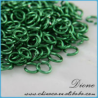 Multi color hot green color open Jump Rings