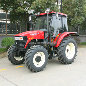 110hp 4 wheel drive tractor with optional farm implements