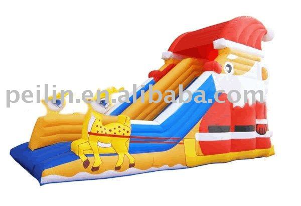 fantastic inflatable Santa Claus slide at low price