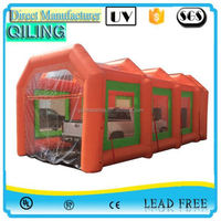 qiling chinese portable car auto spray booth rental