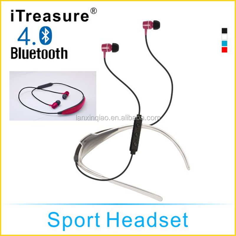 Private tooling name brand sport bluetooth earphone/headset/earbuds with neckband