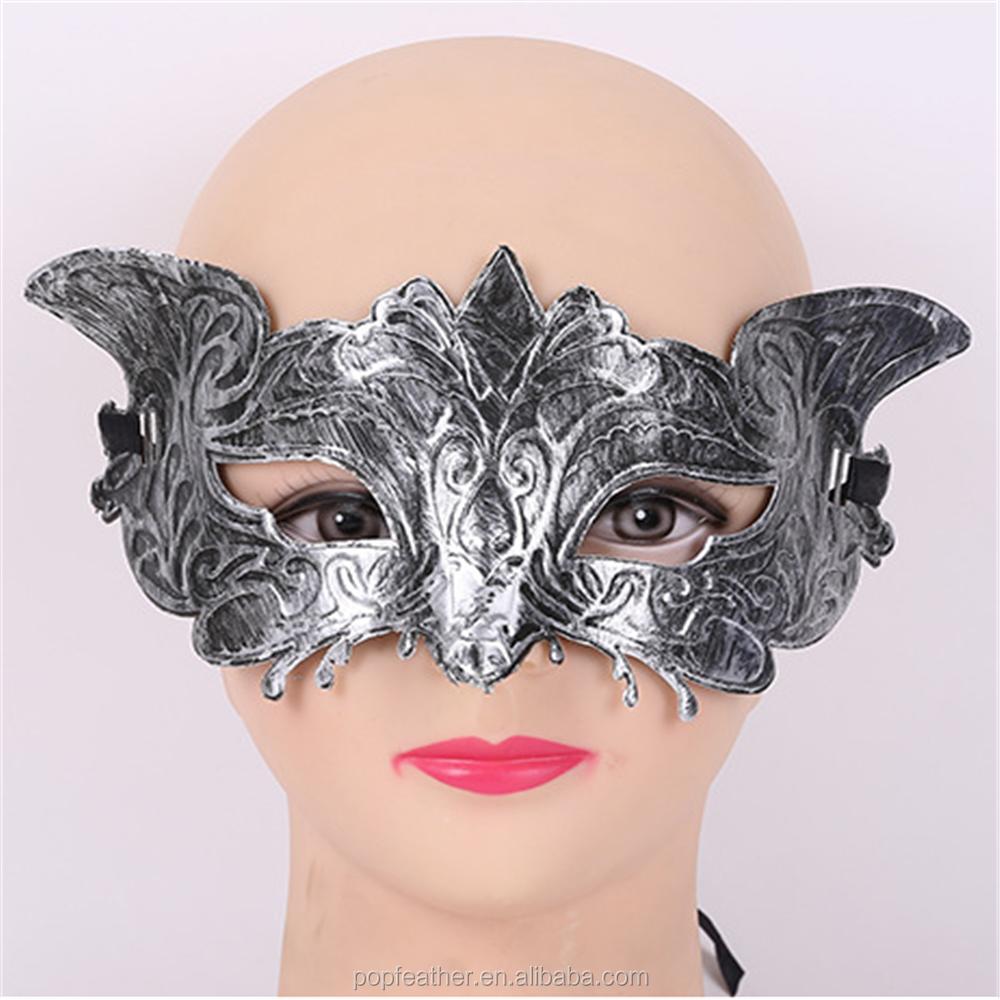 rome antique bronze mask half face mask