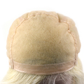Super Fine Virgin Hair Customized Blonde Full Swiss Lace Wig