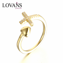 925 Sterling Silver Antique Ring Zircon Cross Ring Designs For Girl SRG872Y