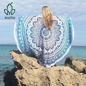 wholesale turkish high quality round beach towel