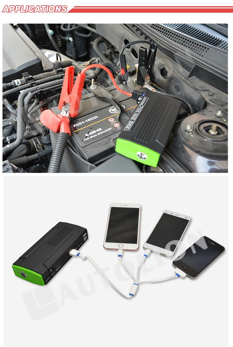 Direct sale smallest booster auto start handy jump starter for MP4