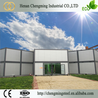 Corrosion Proof Popular Light Quick Assembly Flat Roof House Designs With Heat Insulation
