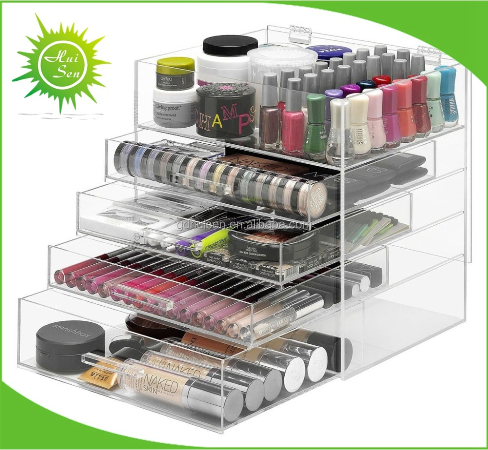 Large Acrylic Makeup Organizer With Drawers Cosmetic