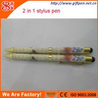 2014 best selling hot transfer printing metal stylus touch ball pen
