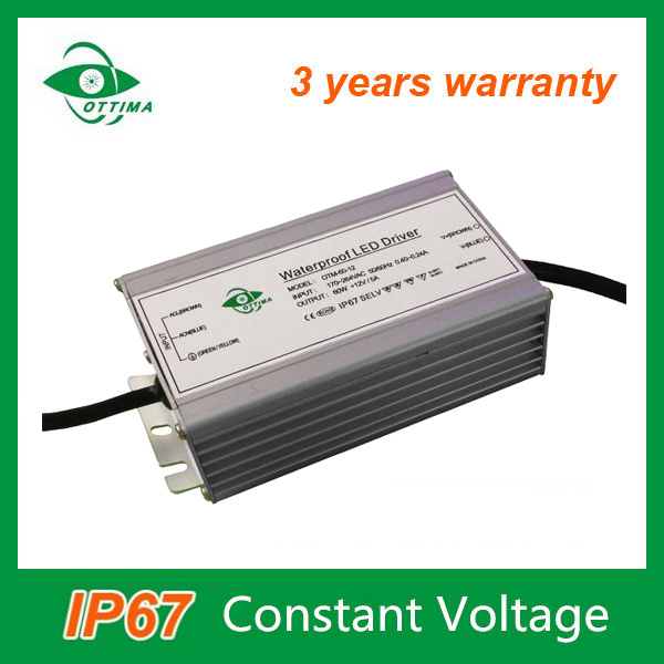 waterproof power supply ip67 12 volt 5amp constant voltage led driver 60watt