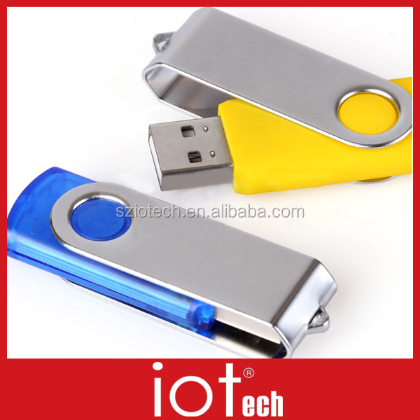 HOT SALE! Cheap Swivel Metal 2GB USB Flash Drive/Stick for Promotional Gift