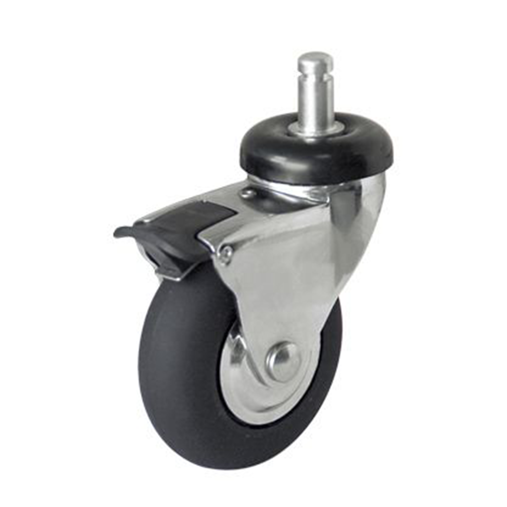 Wholesale Chrome Plated 2 inch 3 Inch Artificial Rubber Caster <strong>Wheels</strong>