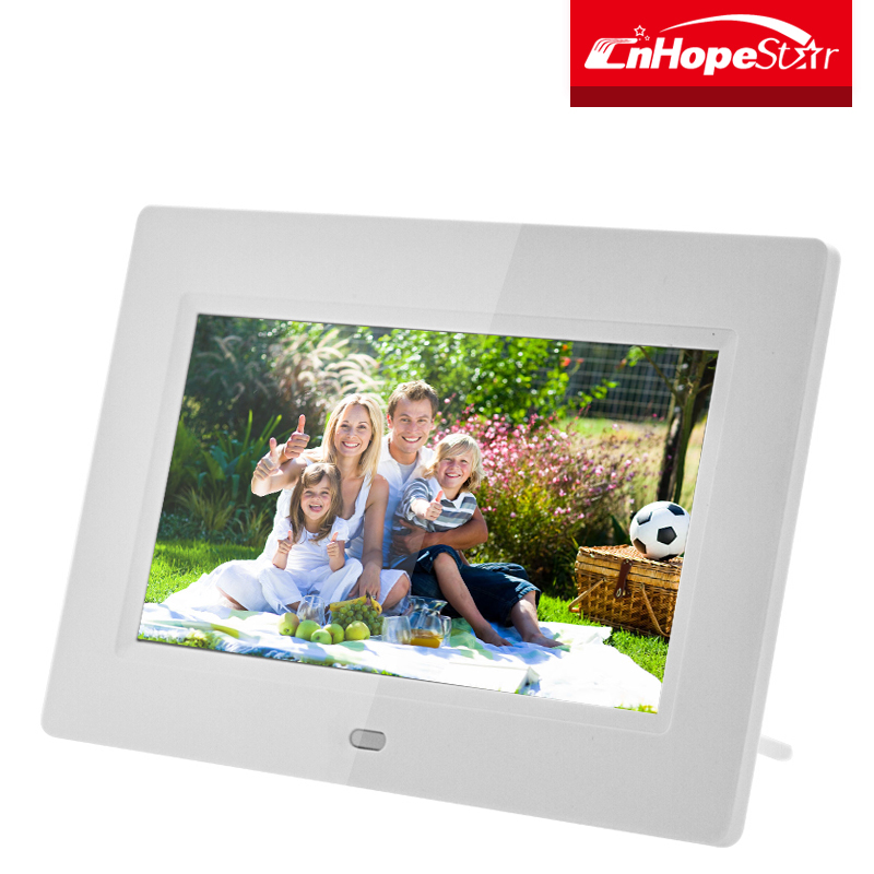 High definition stylish 7 inch lcd screen player digital photo frame