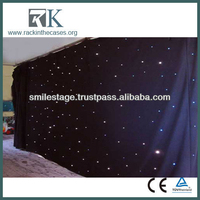factory price light equipment led star curtain/led star cloth