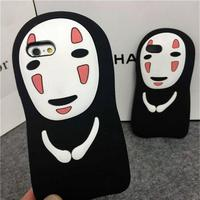 Hayao Miyazaki man cartoon soft silicone mobile phone back cover case for iphone 5 / 6 / 6 plus
