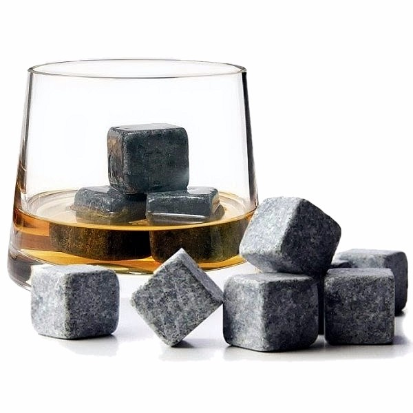 2017 new arrive, various natural semi-precious whiskey stones Cube chilling whisky ice stone for gift set