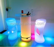 LED illuminated glowing cocktail table bar table hight table for bar club party wedding event