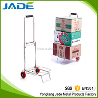 Metal garden trolley wagon cart hand truck,folding steel hand trolley luggage cart wholesale