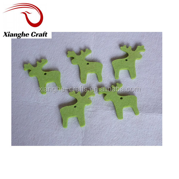hot sale green Winter Reindeer felt animal patterns