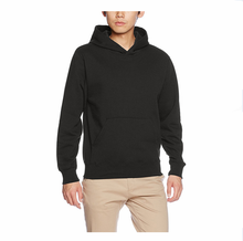 alibaba online shopping mens sweatshirt 100% cotton plain hoodies with pocket wholesale blank pullover hoodies gym black fleece