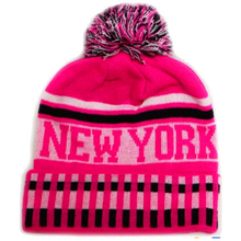 Cheap fashion pom Girls Grey and Pink Beanie Hat and Gloves Set