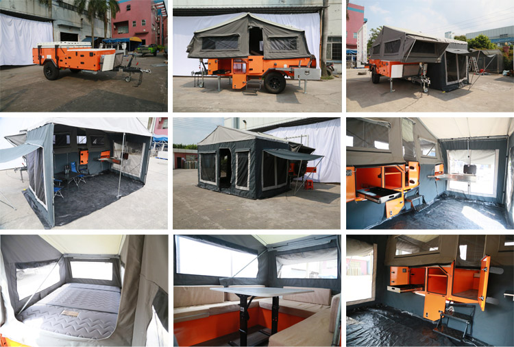 Mini Aluminum 4x4 Forward Folding Travel Trailer Manufacturer